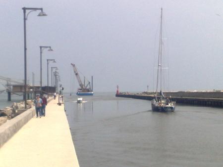 Dragaggio di Porto Garibaldi, panoramica