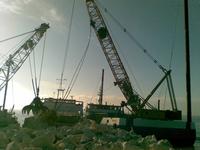 Maintenance intervention on the delta's sea outlets of Po di Levante