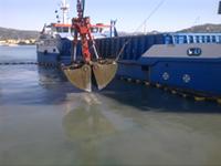 Ecological and selective dredging, seabed cleaning of La Spezia's port